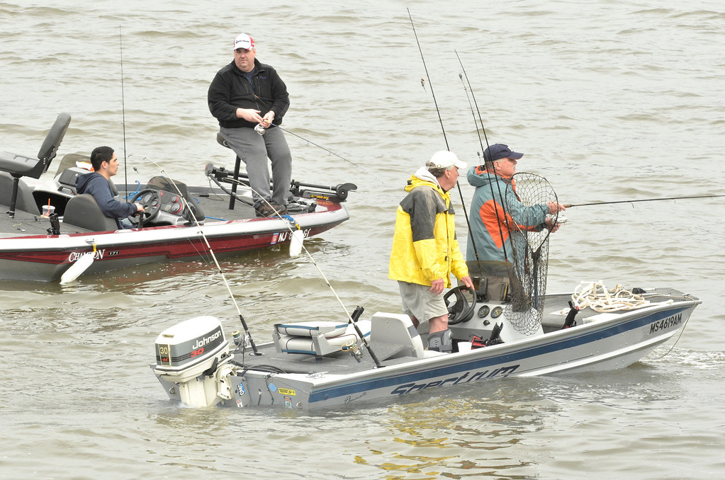 Description of . The Troy 9th annual Ale House Striped Bass tournament, Saturday May 3, 2014 (Mike McMahon - The Record)