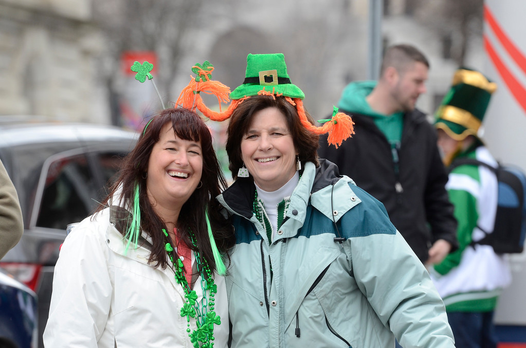 Description of . J.S.CARRAS/THE RECORD during the 64th annual St. Patrick's Day Parade Saturday, March 15, 2014 in Albany, N.Y..