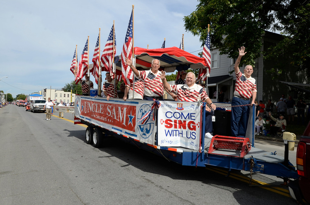 Description of . The 38th annual Uncle Sam Parade Sunday, September 15, 2013 on Fifth Avenue in Lansingburgh, N.Y.. (J.S.CARRAS/THE RECORD)