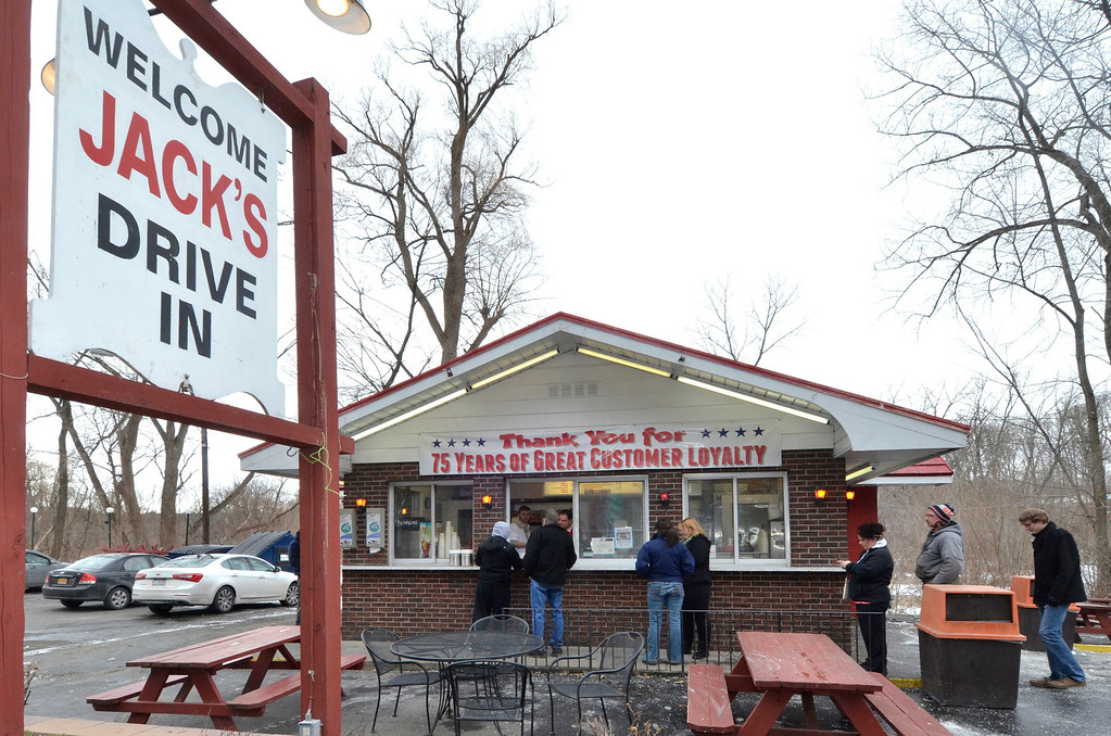 Description of . Mike McMahon - The Record, Jack's Drive-In opens for it's 76th season in Wynantskill, Wednesday March 13, 2014.