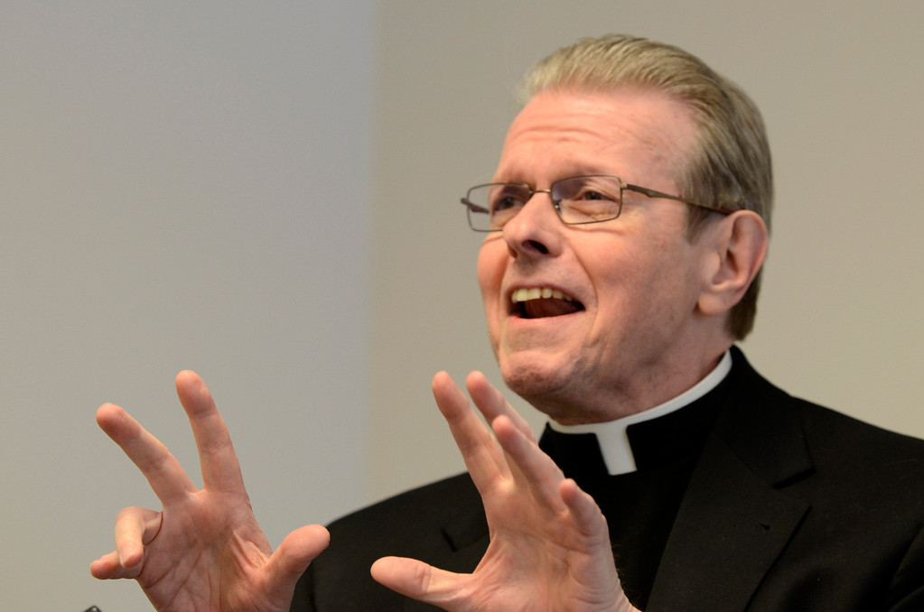 Description of . Mike McMahon - The Record, The Albany Catholic Diocese introduced Bishop-Elect Rev. Msgr. Edward Scharfenberger at Albany Pastoral Center, Tuesday Febuary11, 2014