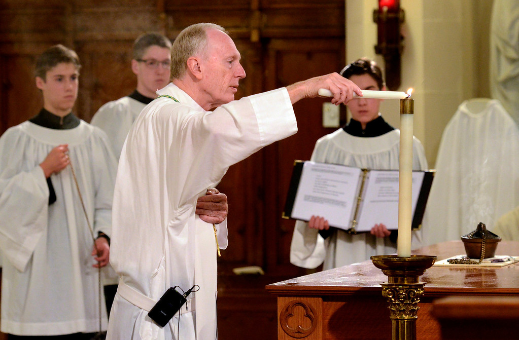 Description of . Mike McMahon - The Record, St. Mary of the Assumption Parish celebrated 100 years with a mass at the Waterford Church, Sunday 10/06/2013.