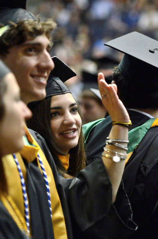 Description of . Siena College commencement at the Times Union Center in Albany, Sunday  May 18,  2014 (Mike McMahon - The Record)