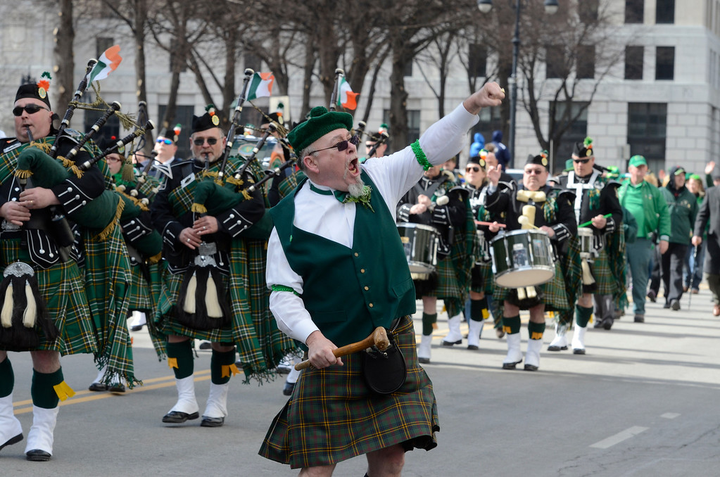 . J.S.CARRAS/THE RECORD during the 64th annual St. Patrick\'s Day Parade Saturday, March 15, 2014 in Albany, N.Y..