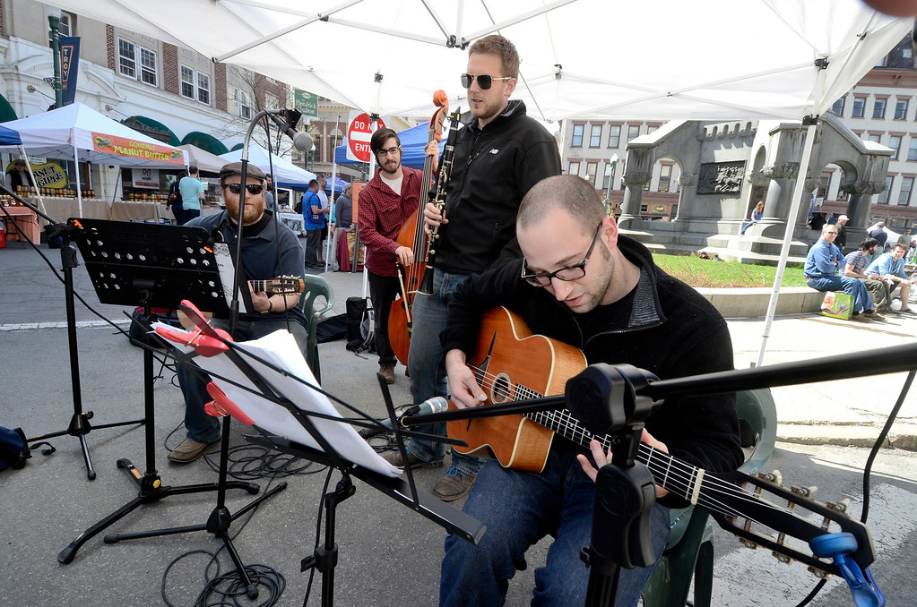 . The CC Vagabonds perform at the Troy Farmers Market as it goes outdoors for the 15th Summer Season, Saturday May 3, 2014 (Mike McMahon - The Record)