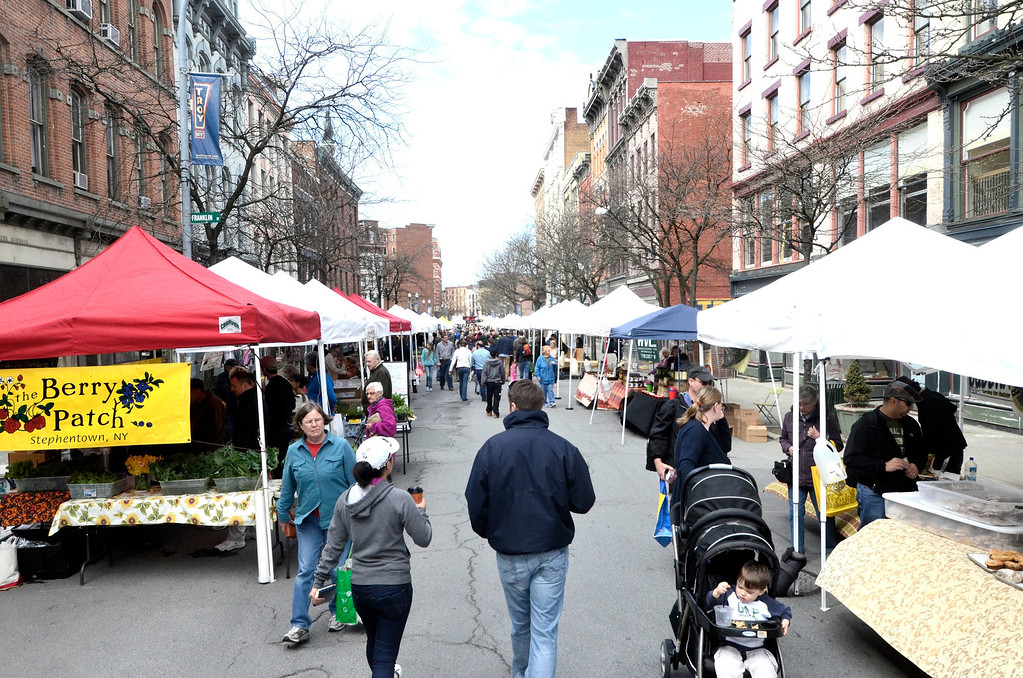 . The Troy Farmers Market goes outdoors for the 15th Summer Season, Saturday May 3, 2014 (Mike McMahon - The Record)
