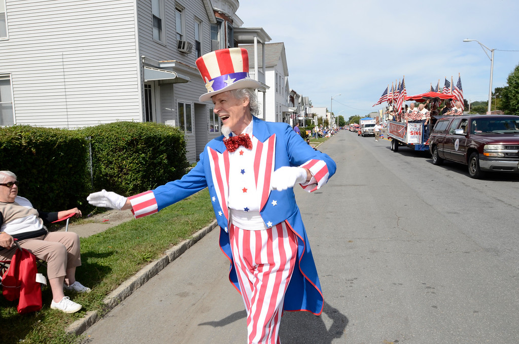. The 38th annual Uncle Sam Parade Sunday, September 15, 2013 on Fifth Avenue in Lansingburgh, N.Y.. (J.S.CARRAS/THE RECORD)