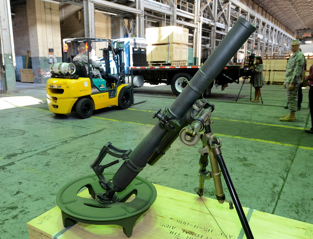 . The Watervliet Arsenal shipped out the last 60mm mortar order to the Afghanistan National Army to close a nearly $6 million contract to manufacture 900 mortar systems.  The order is a significant step needed to bring our troops home. September 16. 2013.  (Mike McMahon/The Record)