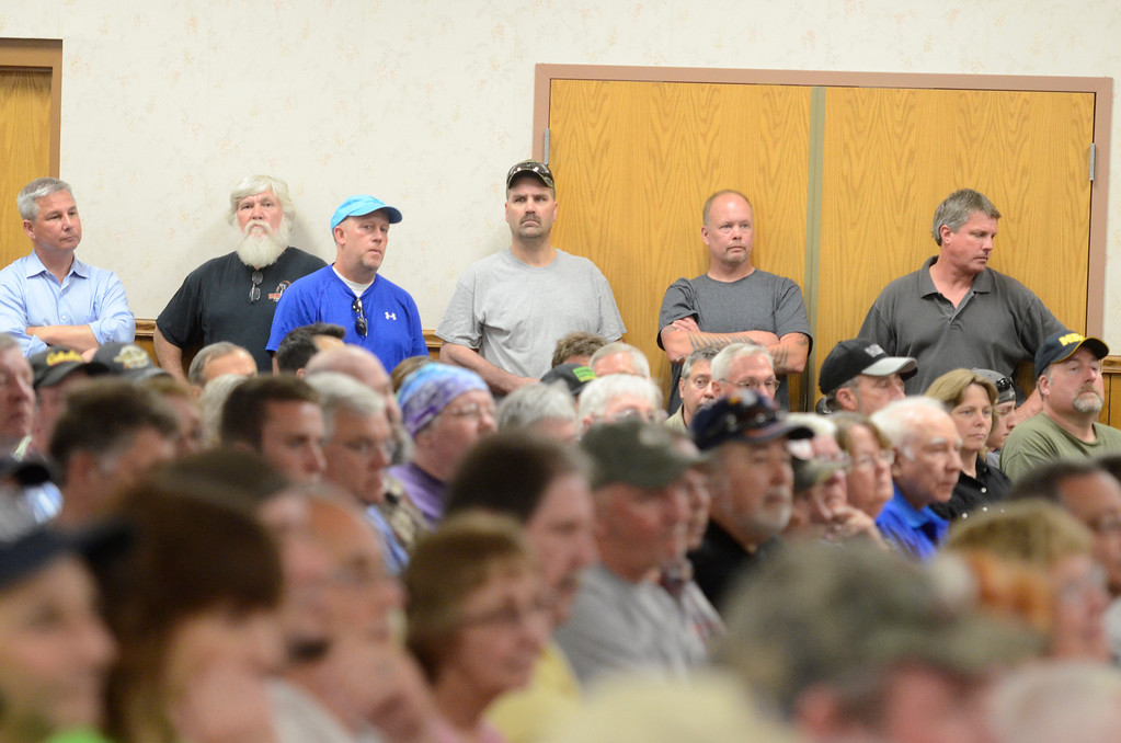 . J.S.CARRAS/THE RECORD  Brunswick Sportsmen\'s Club sponsored Challenge N.Y. SAFE Act rally Tuesday, May 27, 2014 at Center Brunswick Fire Hall in Brunswick, N.Y..