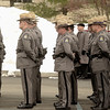 Mike McMahon - The Record,  Members of Troop-T Duanesburg stand together at memorial for NYS Trooper David Cunniff at the Grace Fellowship church in Latham. Friday December 20, 2013