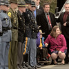 Mike McMahon - The Record,  Amy, and their sons, Caleb, 6, and Zachary, 4, Cunniff at funeral services for Trooper David Cunniff at the Grace Fellowship church in Latham,  December 18, 2013.