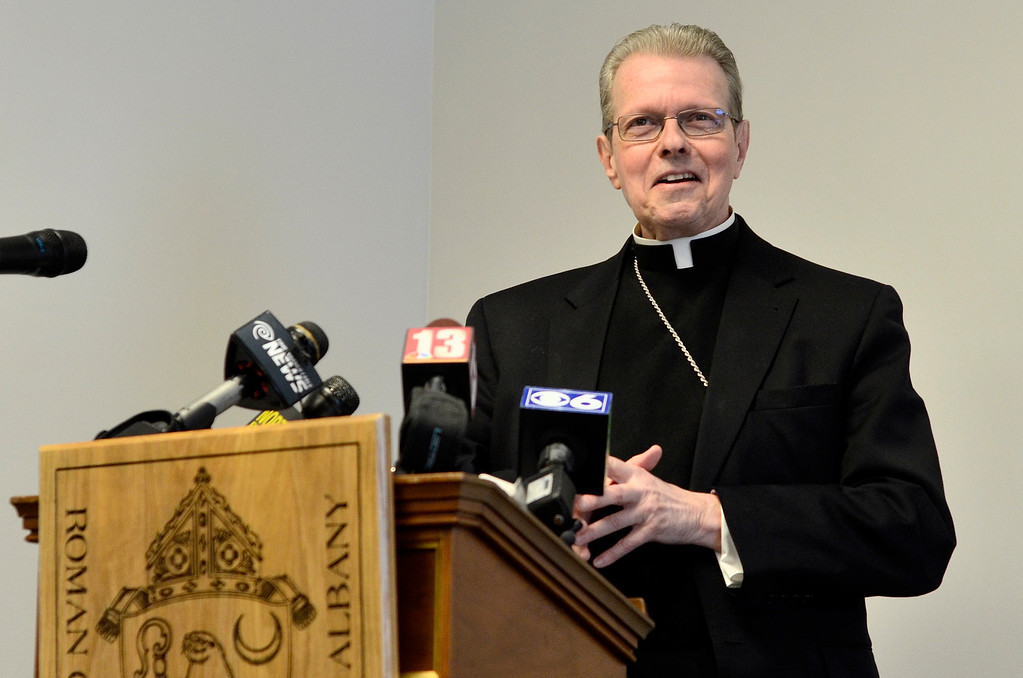 . Mike McMahon - The Record, The Albany Catholic Diocese introduced Bishop-Elect Rev. Msgr. Edward Scharfenberger at Albany Pastoral Center, Tuesday Febuary11, 2014