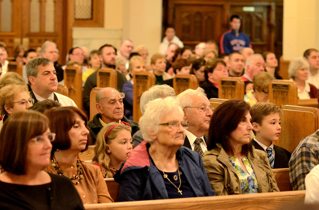 . Mike McMahon - The Record, St. Mary of the Assumption Parish celebrated 100 years with a mass at the Waterford Church, Sunday 10/06/2013.