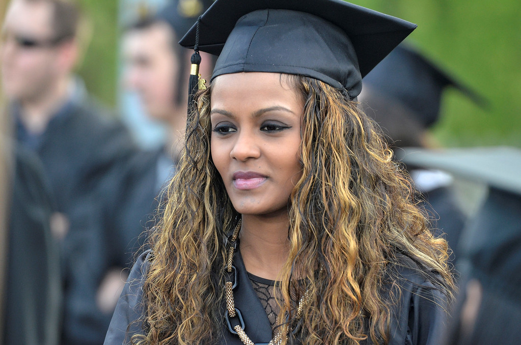 . Hudson Valley Community College commencement at the Joseph L. Bruno baseball field in Troy, Saturday  May 17,  2014 (Mike McMahon - The Record)