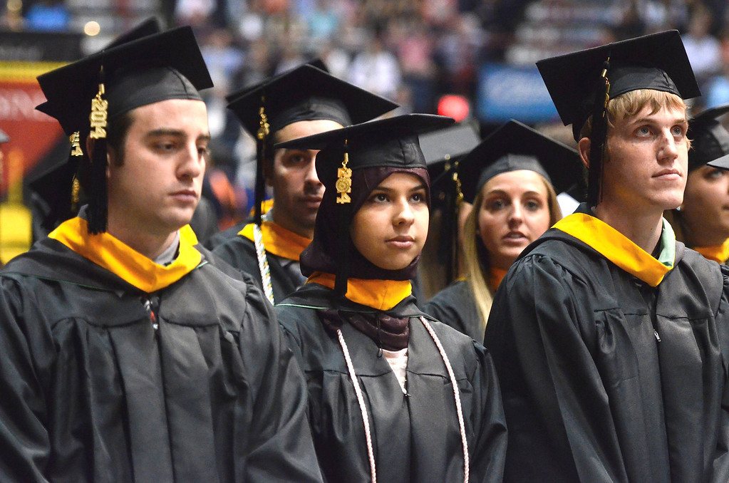 . Siena College commencement at the Times Union Center in Albany, Sunday  May 18,  2014 (Mike McMahon - The Record)